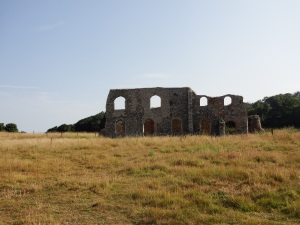 The ruins of the old Monastry at Dunwich.